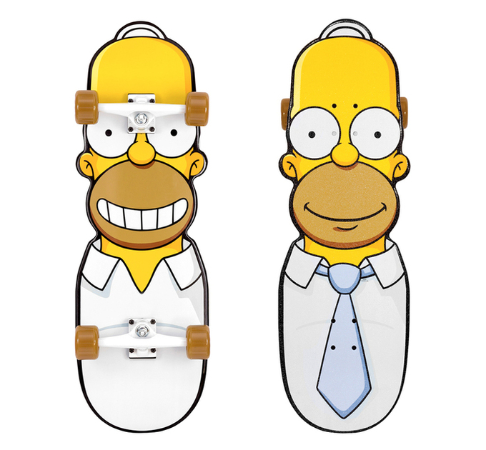 Simpsons cruzers from Santa Cruz Skateboards