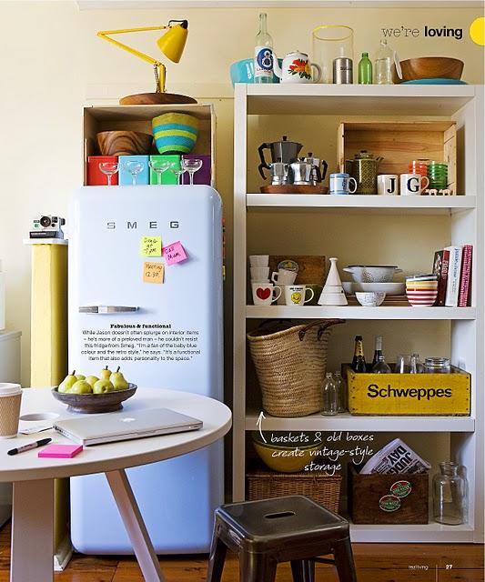 Smeg 50's style refrigerator