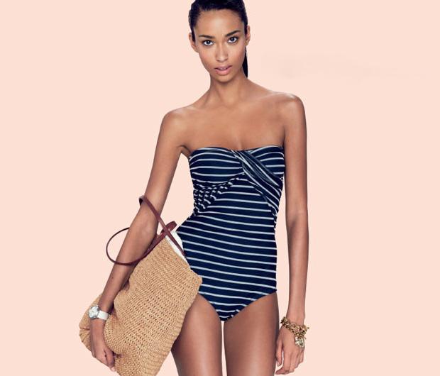 j. crew january 2012 swimwear model: anais mali