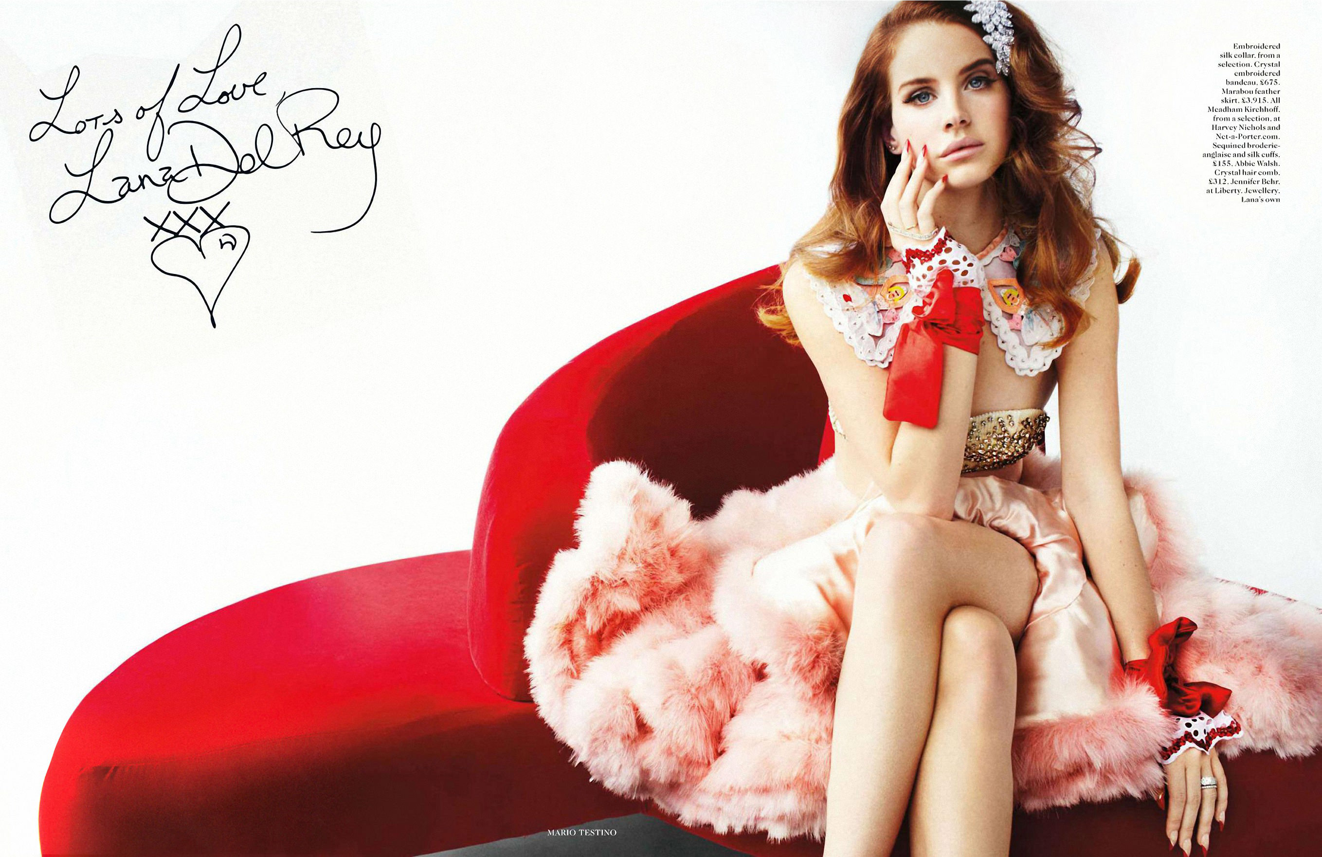 Lana Del Rey by Mario Testino for Vogue UK, March 2012 – The Video Star