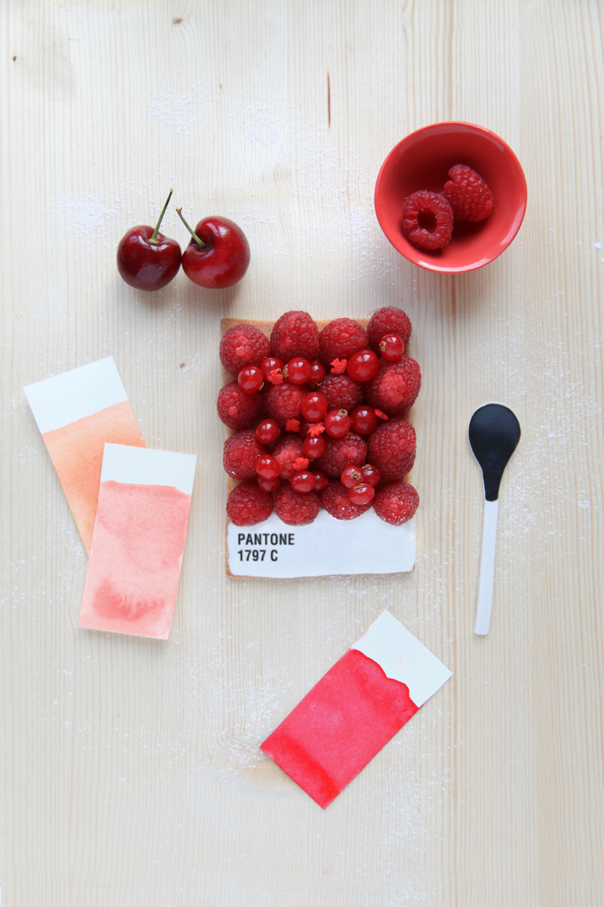 Pantone Tarts by Emilie Griottes