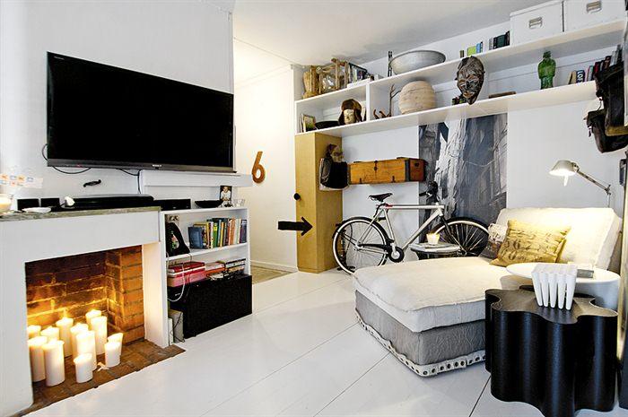 Stockholm black and white apartment
