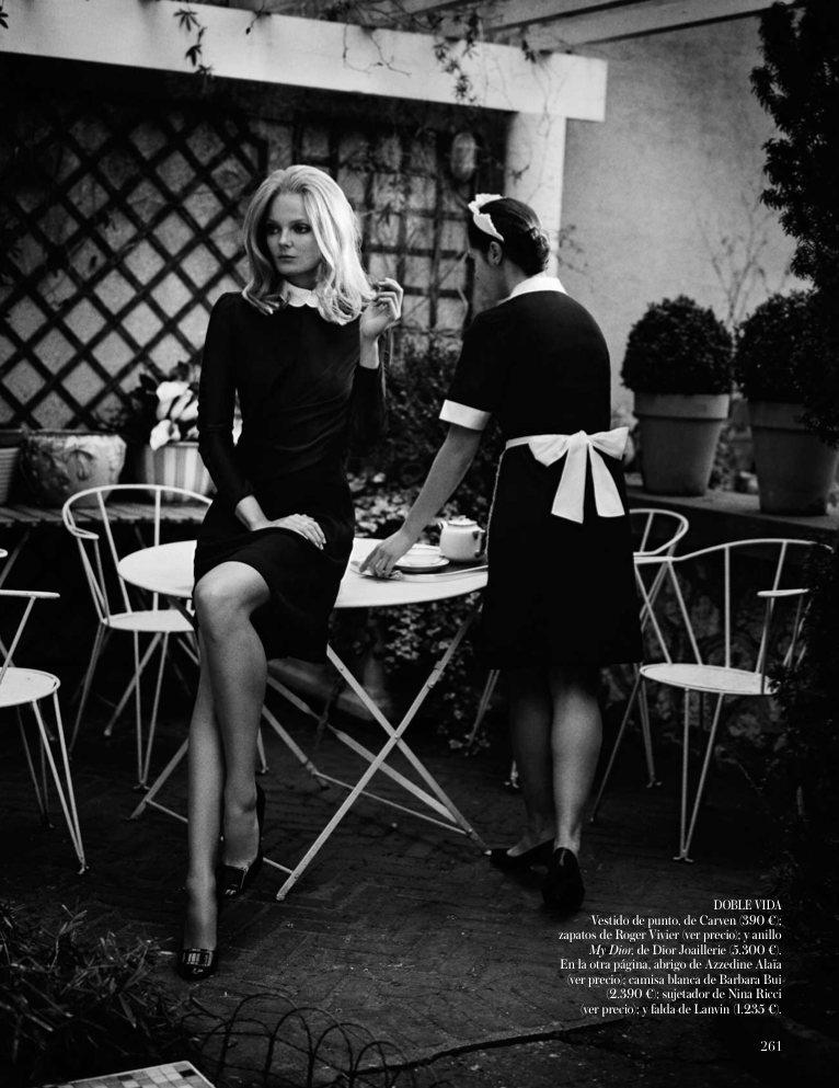Belle de Jour with Eniko Mihalik for Vogue Spain