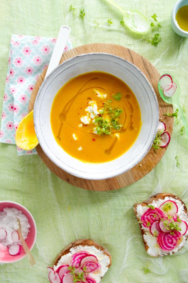 Red Kuri Squash and Apple Soup by La Tartine Gourmande