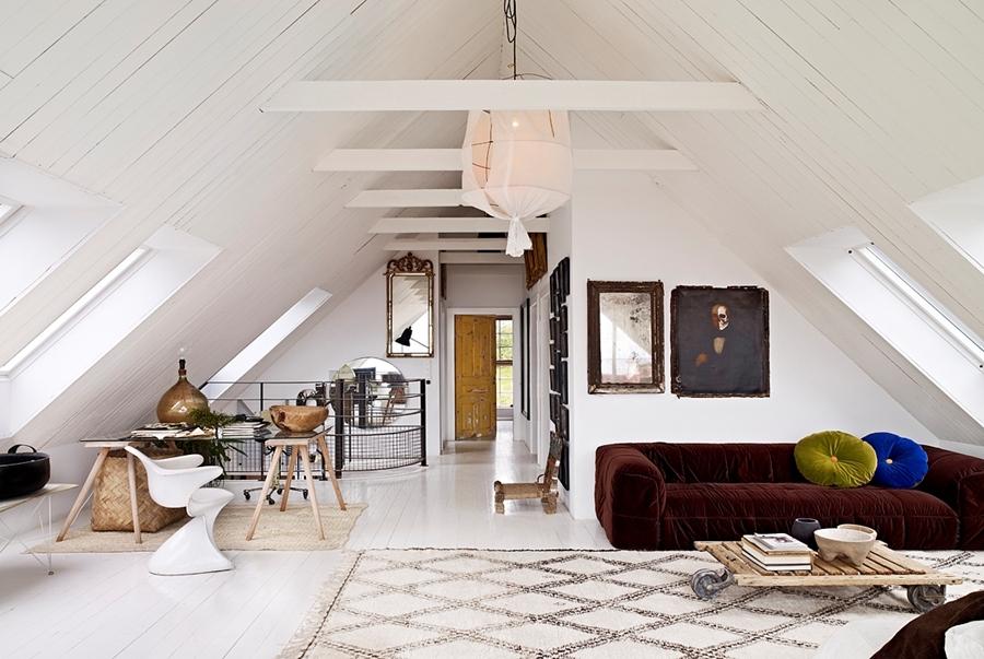 Scandinavian villa Ingrid Marie in white and wood