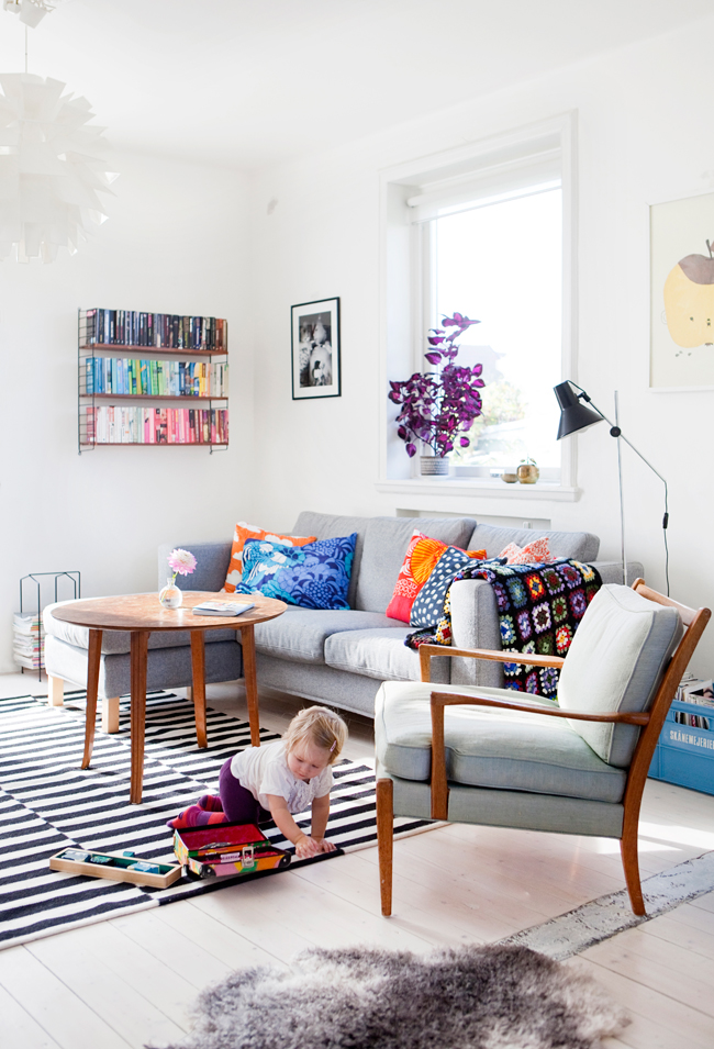 The colorful Swedish home of Johana from Aprill Aprill