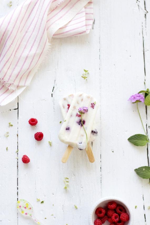 Raspberry Yogurt Ice cream