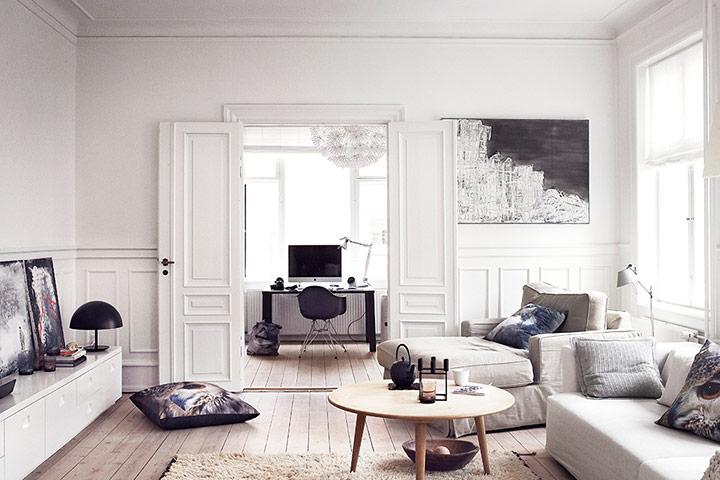 Stylish Danish apartment near Copenhagen photographed by Heidi Lerkenfeldt - The living room