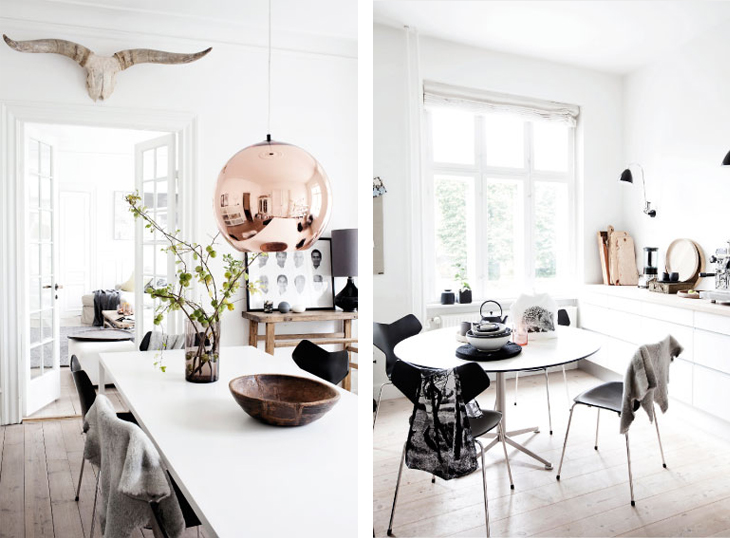 The beautiful home of Hanne Berzant behind By Nord