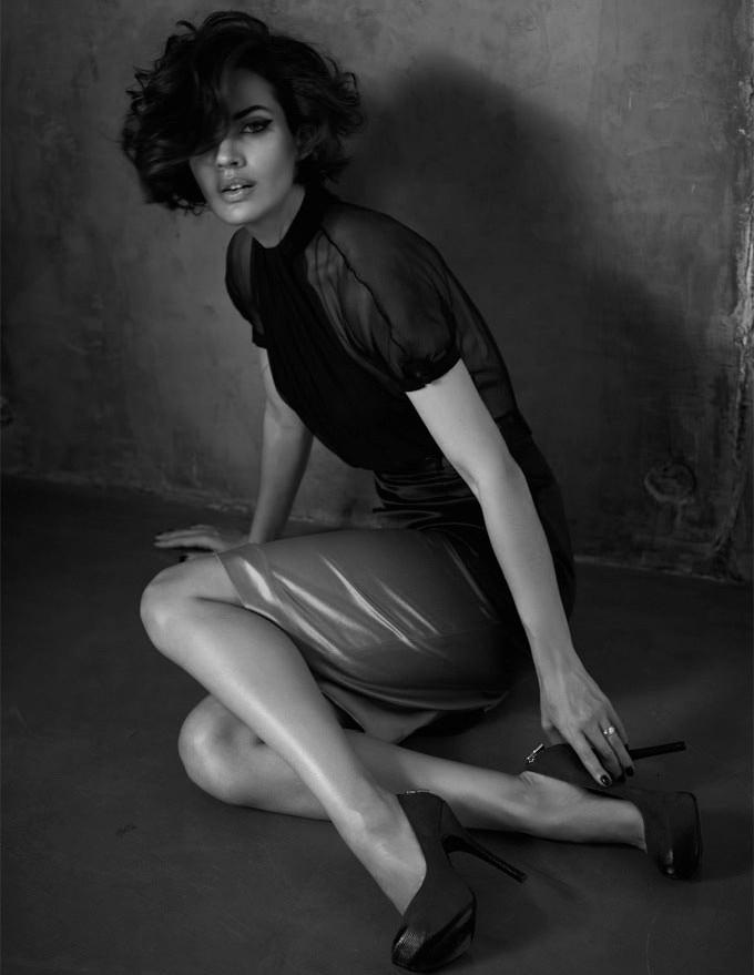 Michella Cruz shot by Rene Habermacher for GQ Russia December 2012