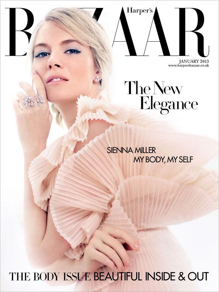 60s styled Sienna Miller shot by David Slijper for Harper's Bazaar January 2013
