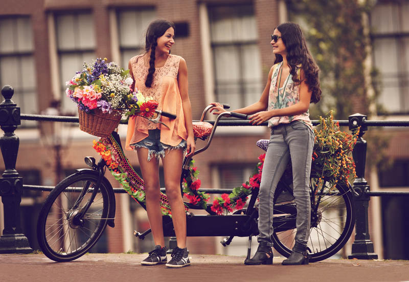 Girls on bikes by Guy Aroch for Free People 3