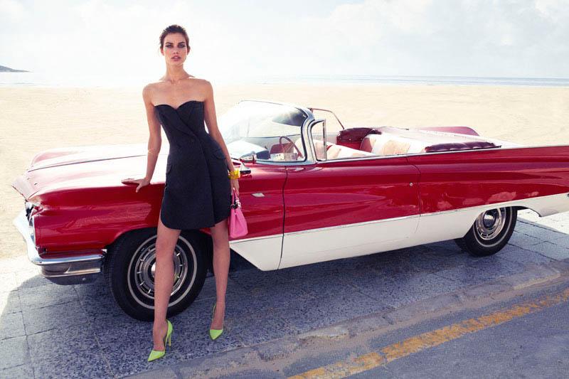 Rianne ten Haken in Retro Fitted by Xavi Gordo for Elle Spain March 2