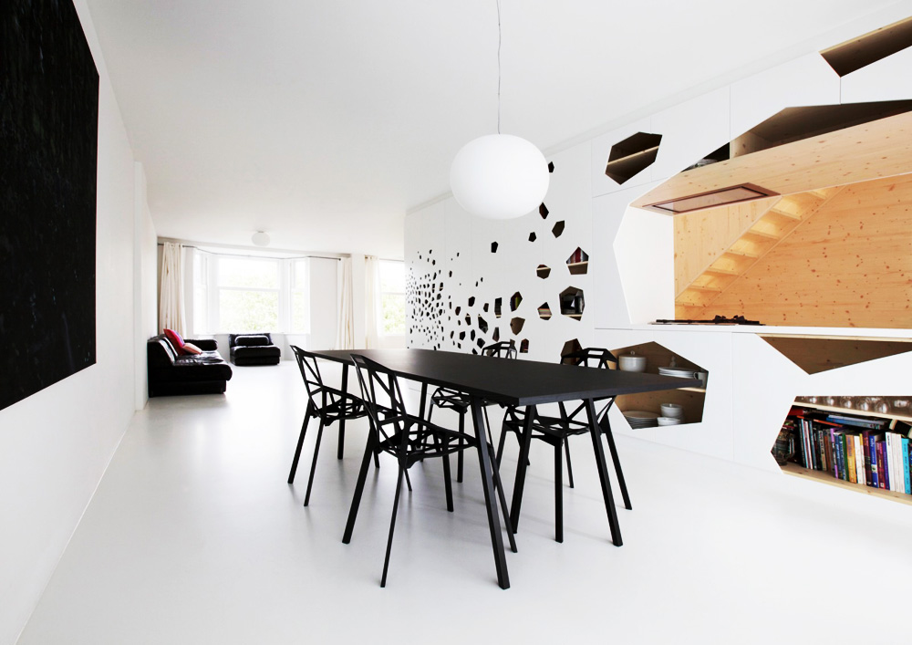 White and wood Amsterdam apartment by i29 architects 6