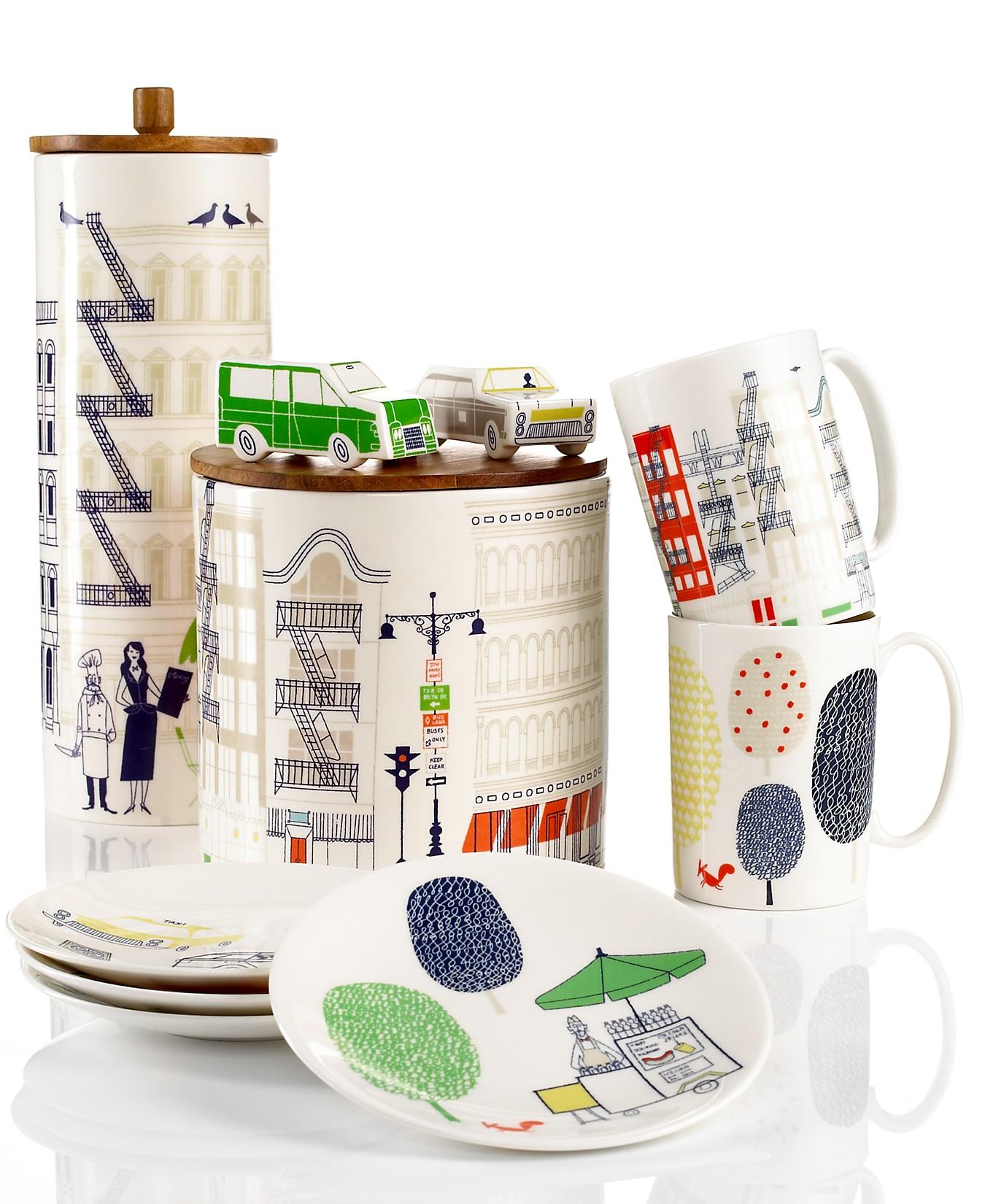 Klas Fahlén illustrations for Kate Spade porcelain serveware 1
