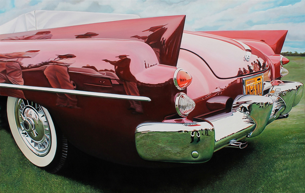 Classic muscle cars paintings by Cheryl Kelley 1 Preacher