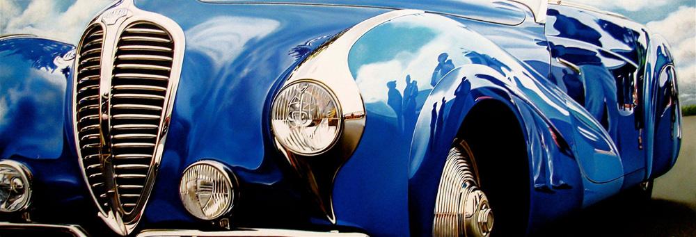 Classic muscle cars paintings by Cheryl Kelley 3 BlueDelahaye