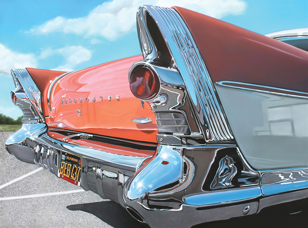 Classic muscle cars paintings by Cheryl Kelley 7 Roadmaster