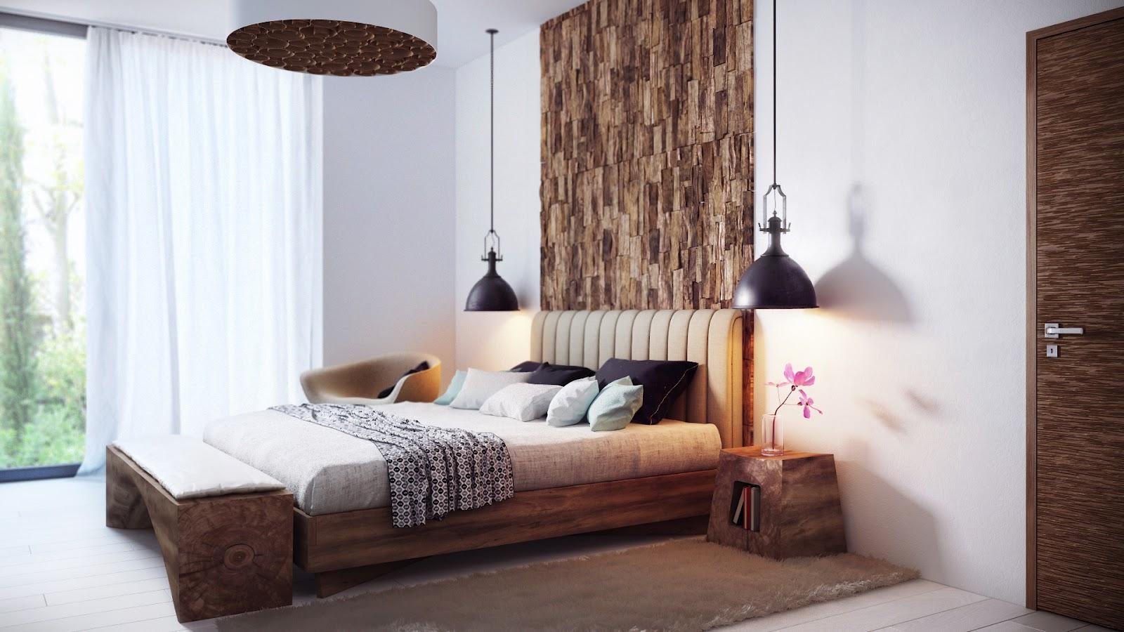 Cozy minimalist bedroom by Alexander Uglyanitsa 2
