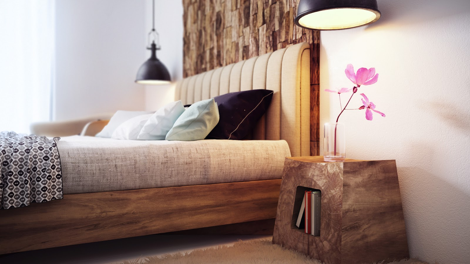 Cozy minimalist bedroom by Alexander Uglyanitsa 3
