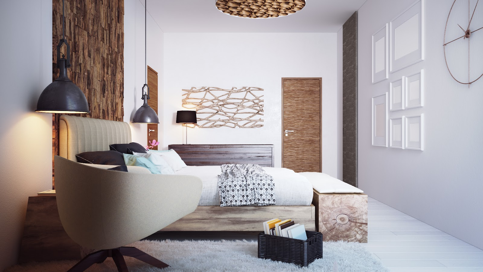 Cozy minimalist bedroom by Alexander Uglyanitsa 4
