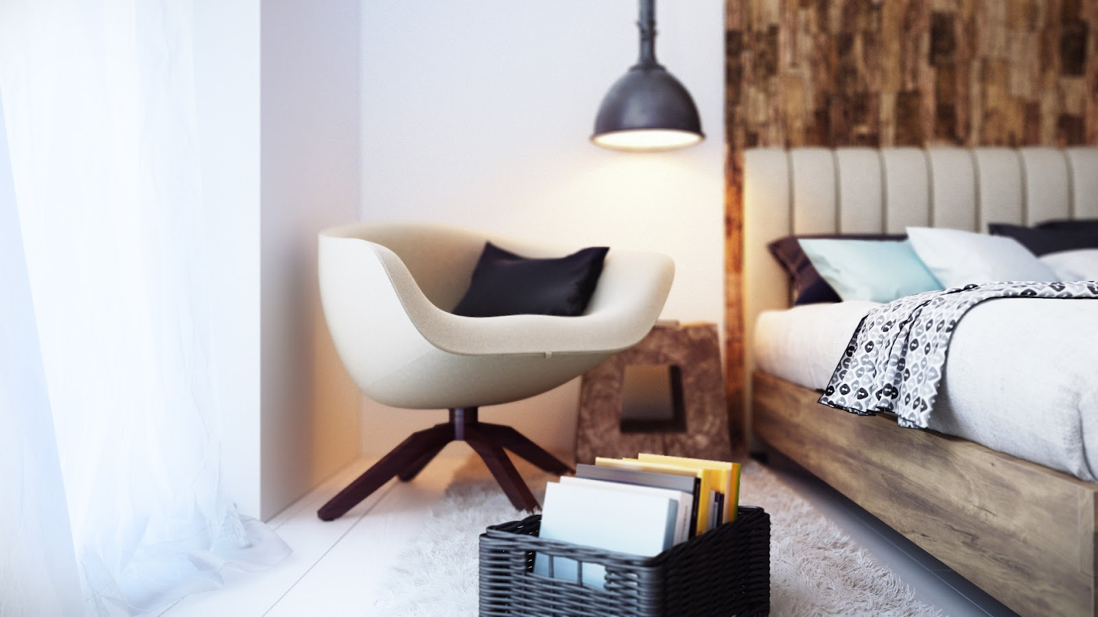 Cozy minimalist bedroom by Alexander Uglyanitsa 5