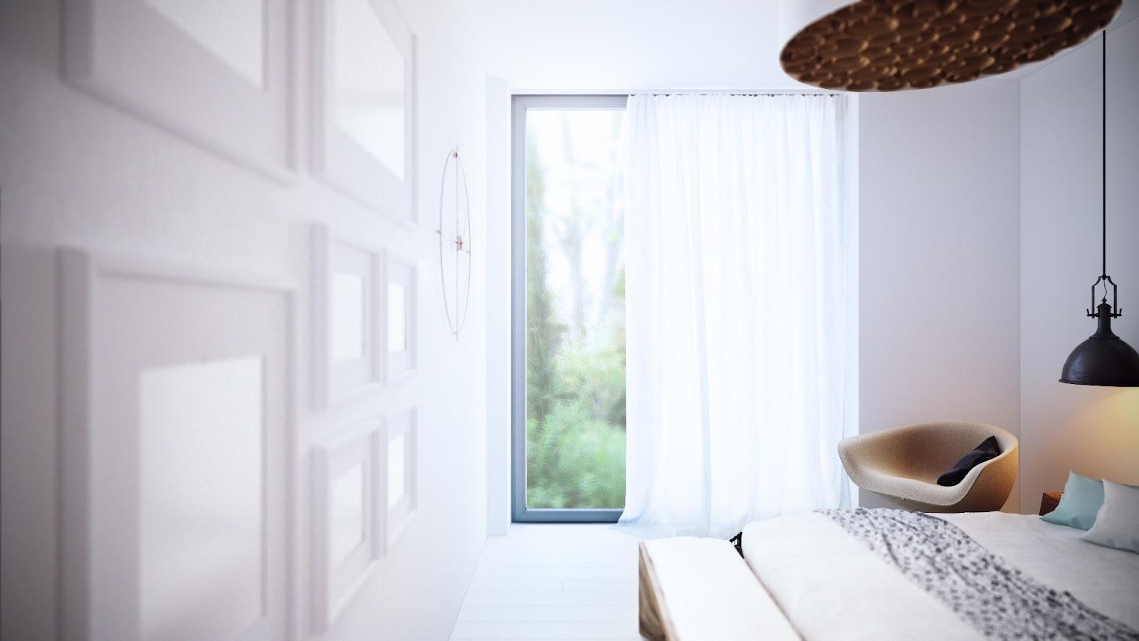 Cozy minimalist bedroom by Alexander Uglyanitsa 6
