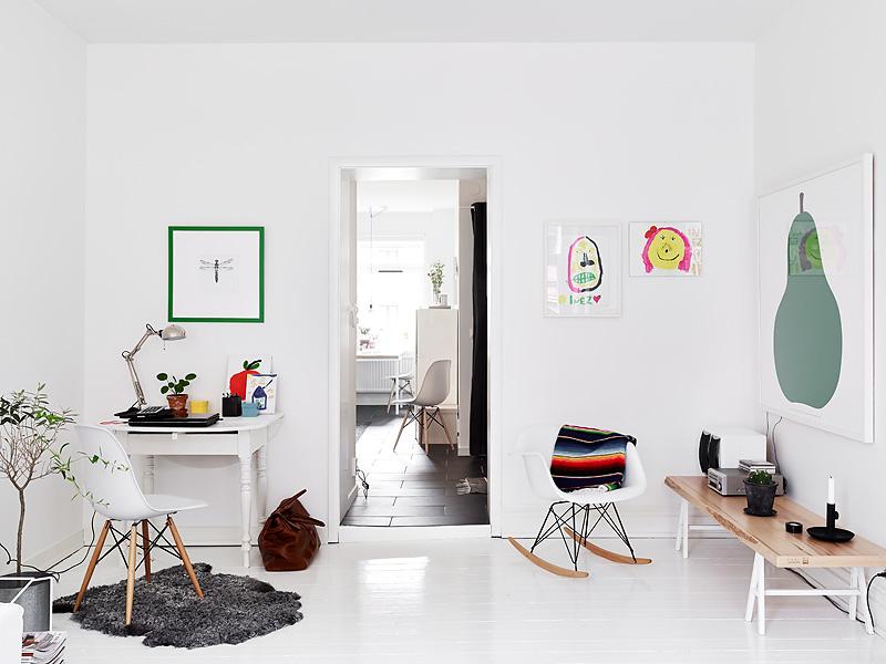 White sunny Swedish home 9