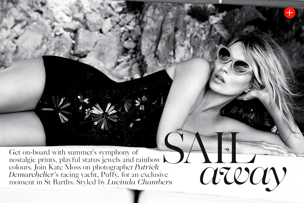 60s styled Kate Moss by Patrick Demarchelier for Vogue UK June 2013 2