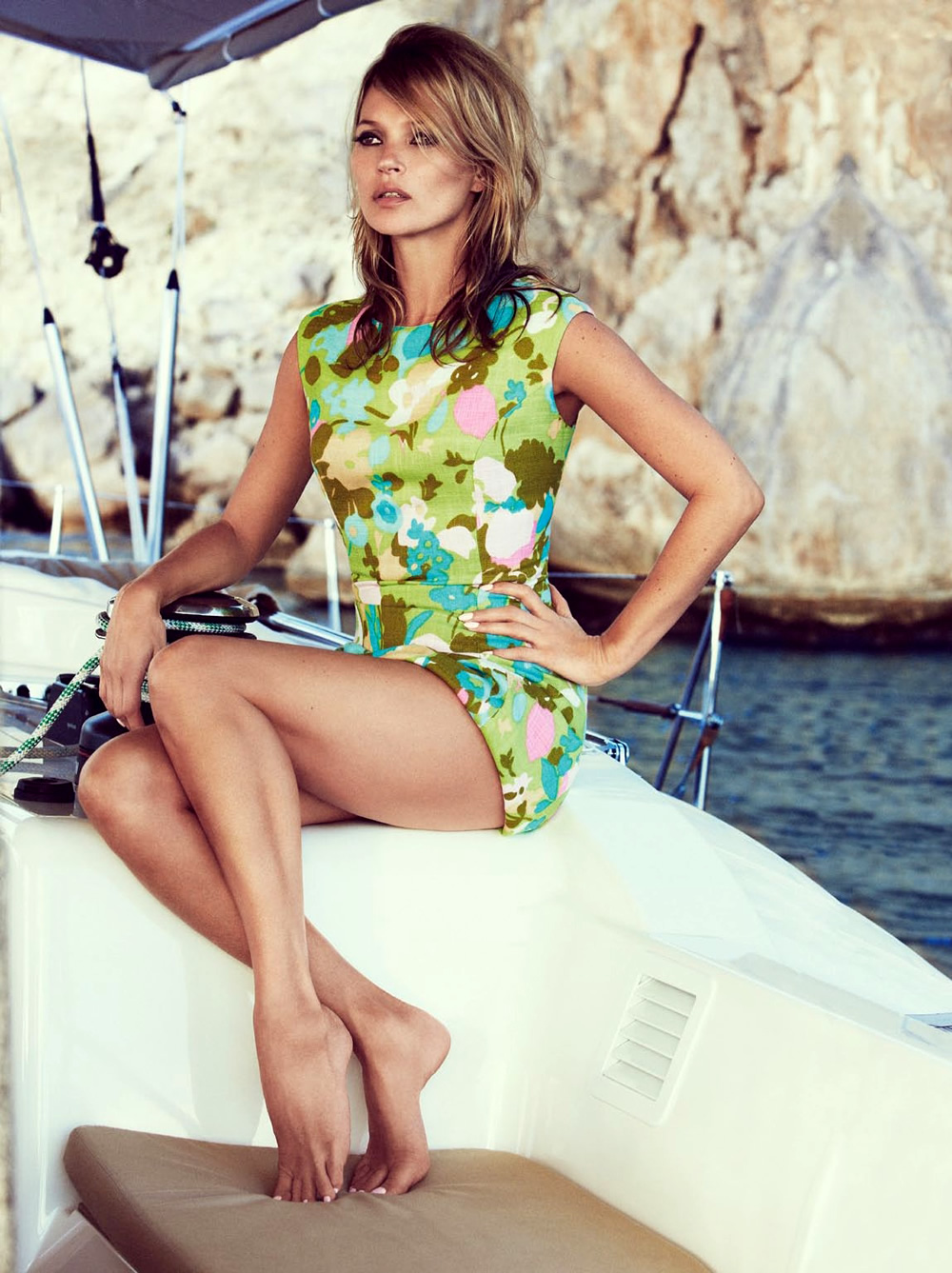 60s styled Kate Moss by Patrick Demarchelier for Vogue UK June 2013 3