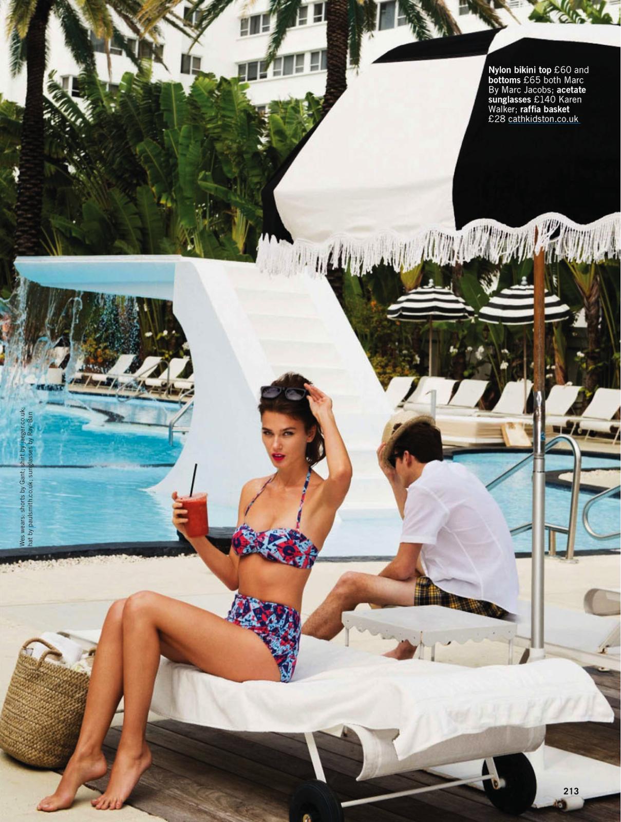 Sun sea glamour Rudi Ovchinnikova and Wes by Pamela Hanson for Glamour UK May 2013 5