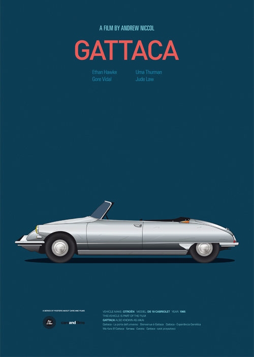 Cars and Films illustrations by Jesús Prudencio 9 gattaca movie poster