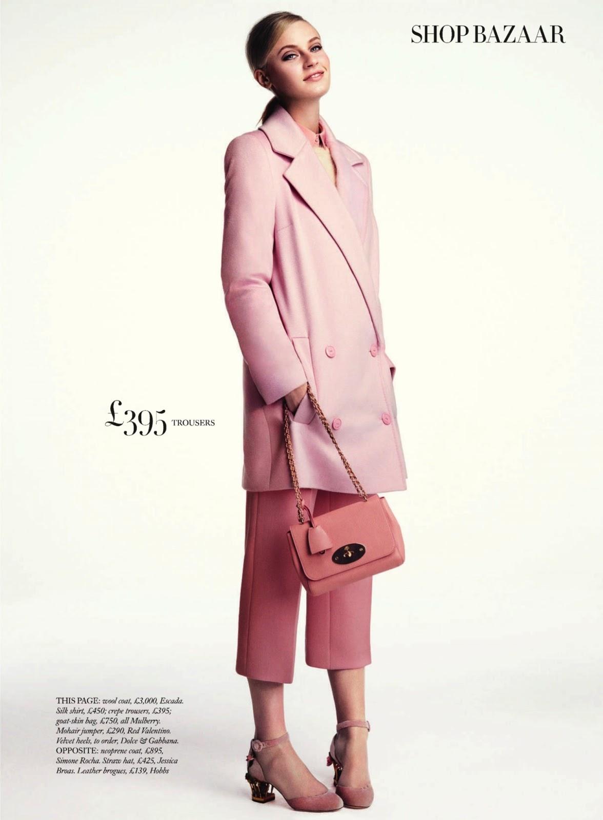 Pretty in pink Paulina Heiler By Dima Hohlov for Uk Harper's Bazaar2