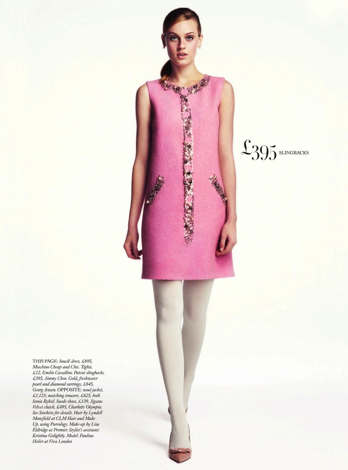 Pretty in pink Paulina Heiler By Dima Hohlov for Uk Harper's Bazaar6
