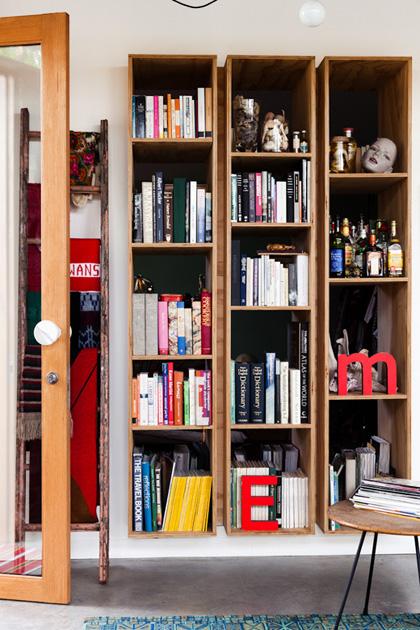 The Australian home of architect Emilio Fuscaldo of NEST architects 5 bookshelves