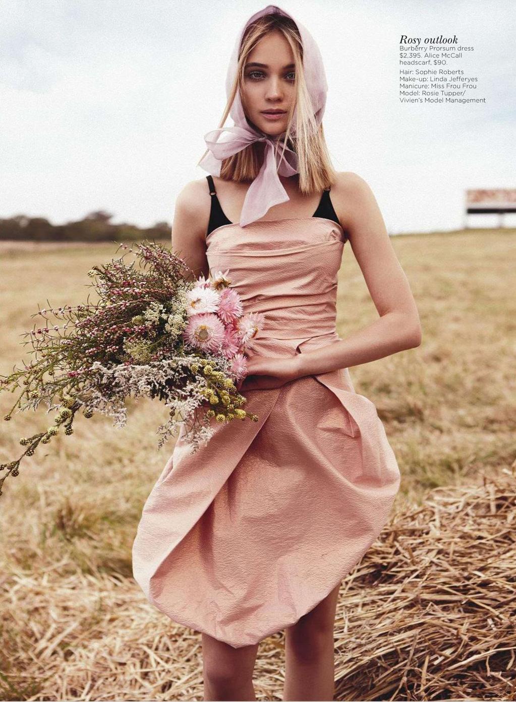 Field of Dreams Rosie Tupper by Nicole Bentley for Vogue Australia 1