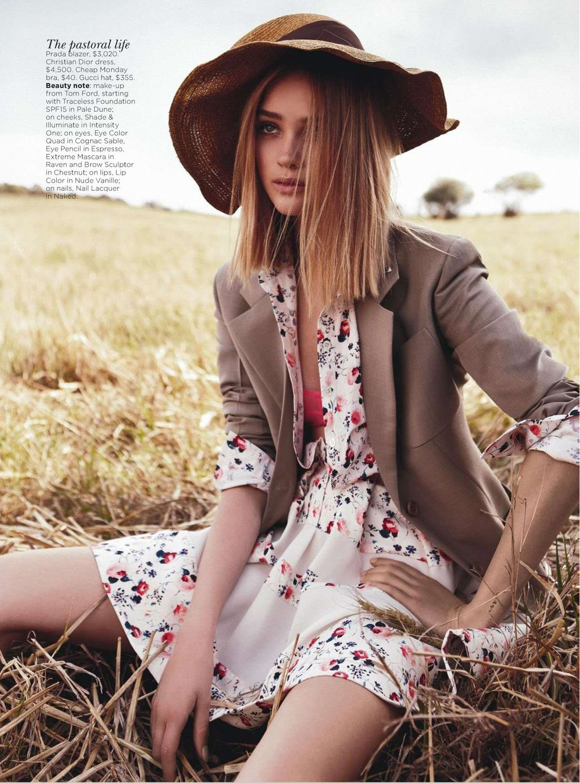 Field of Dreams Rosie Tupper by Nicole Bentley for Vogue Australia 6