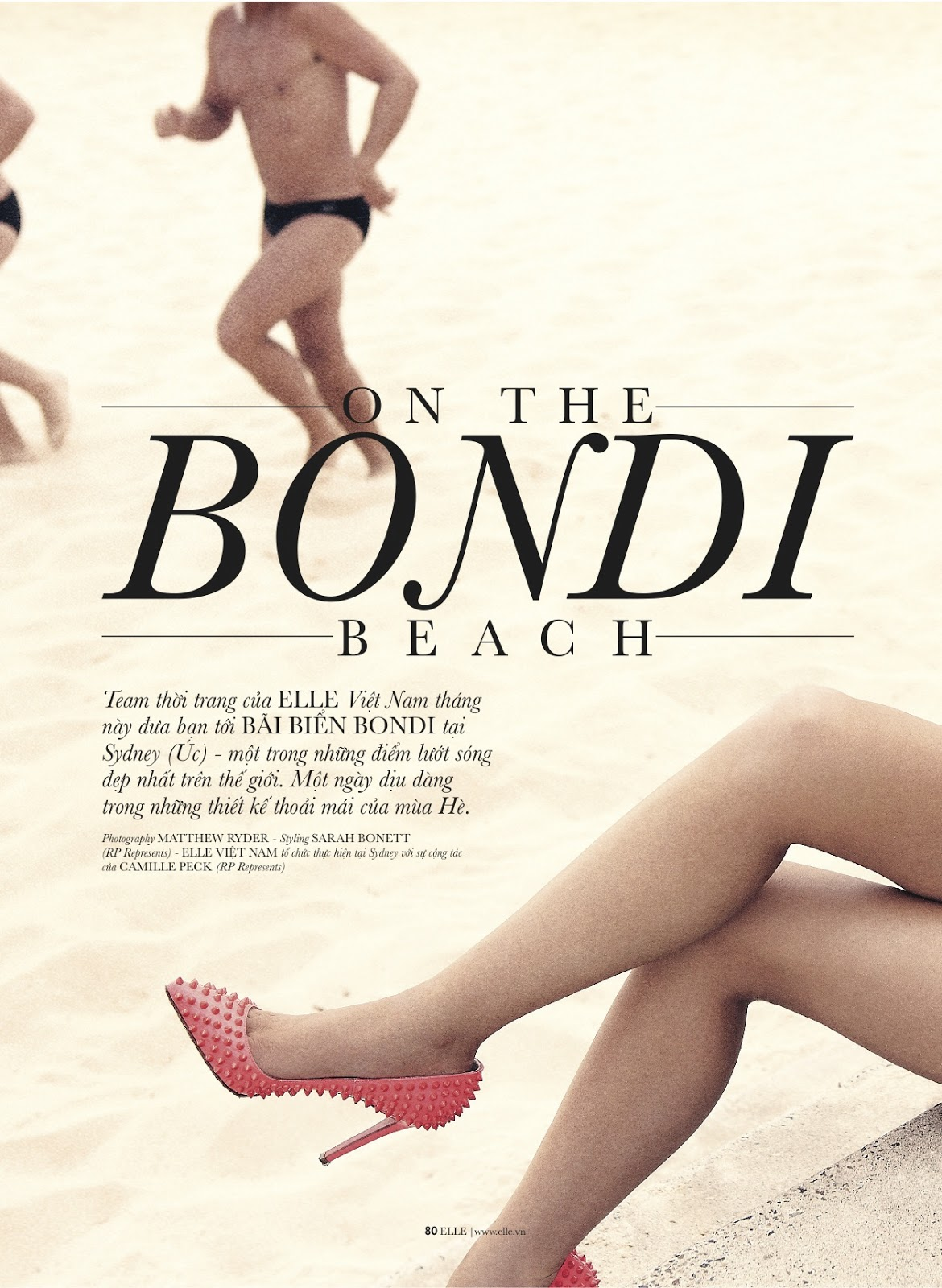 On the Bondi beach Rosie Tupper by Matthew Ryder for Elle 2