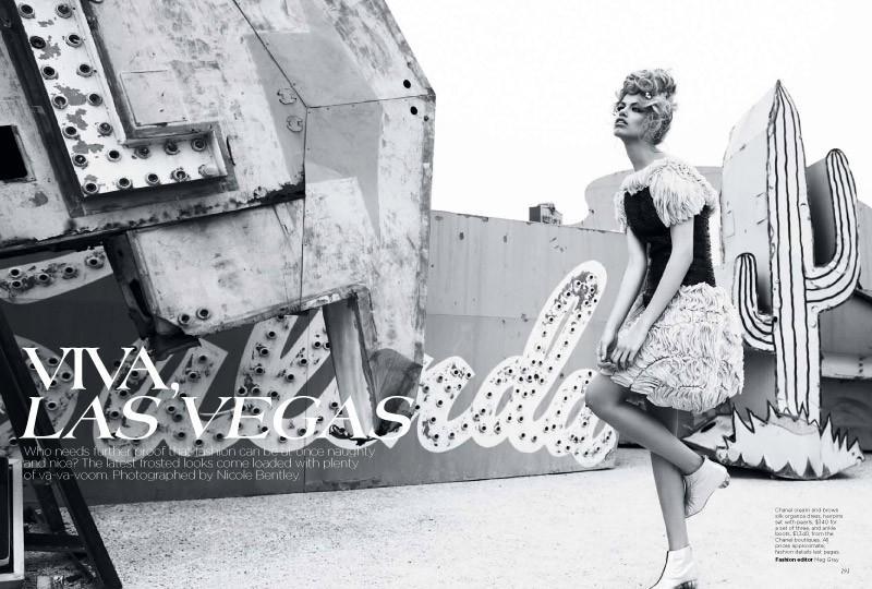 Viva, Las Vegas Hailey Clauson by Nicole Bentley for Vogue Australia 1