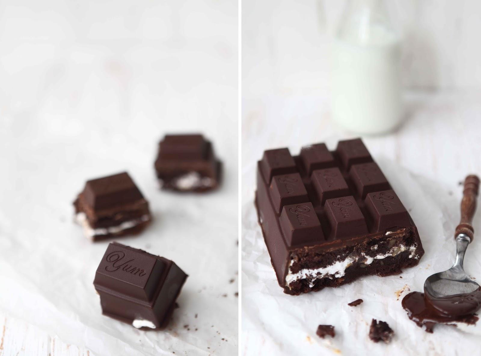 Caramel marshmallow brownie chocolate bar 1