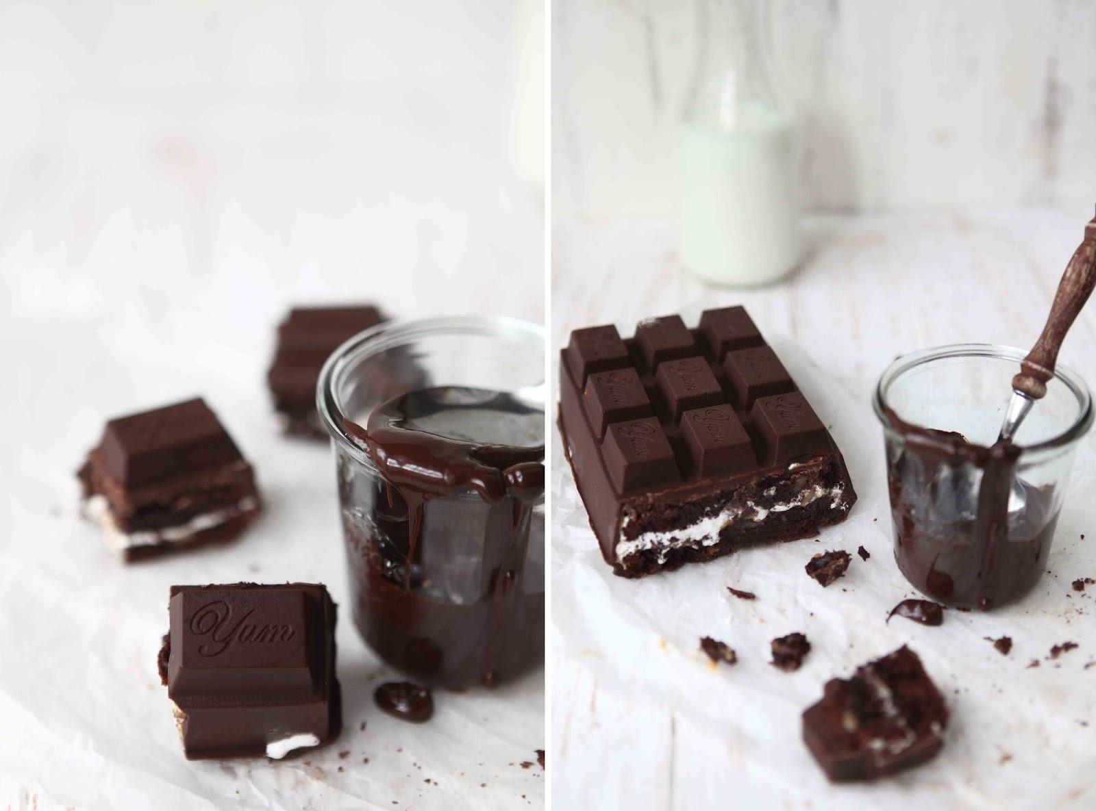 Caramel marshmallow brownie chocolate bar 3