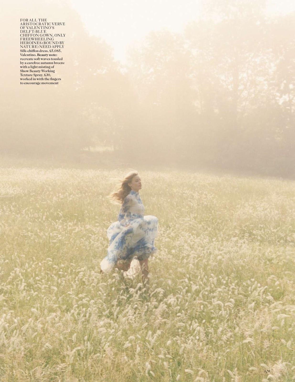 Dream a little dream Georgia May Jagger by Venetia Scott for Vogue UK October 2013 6
