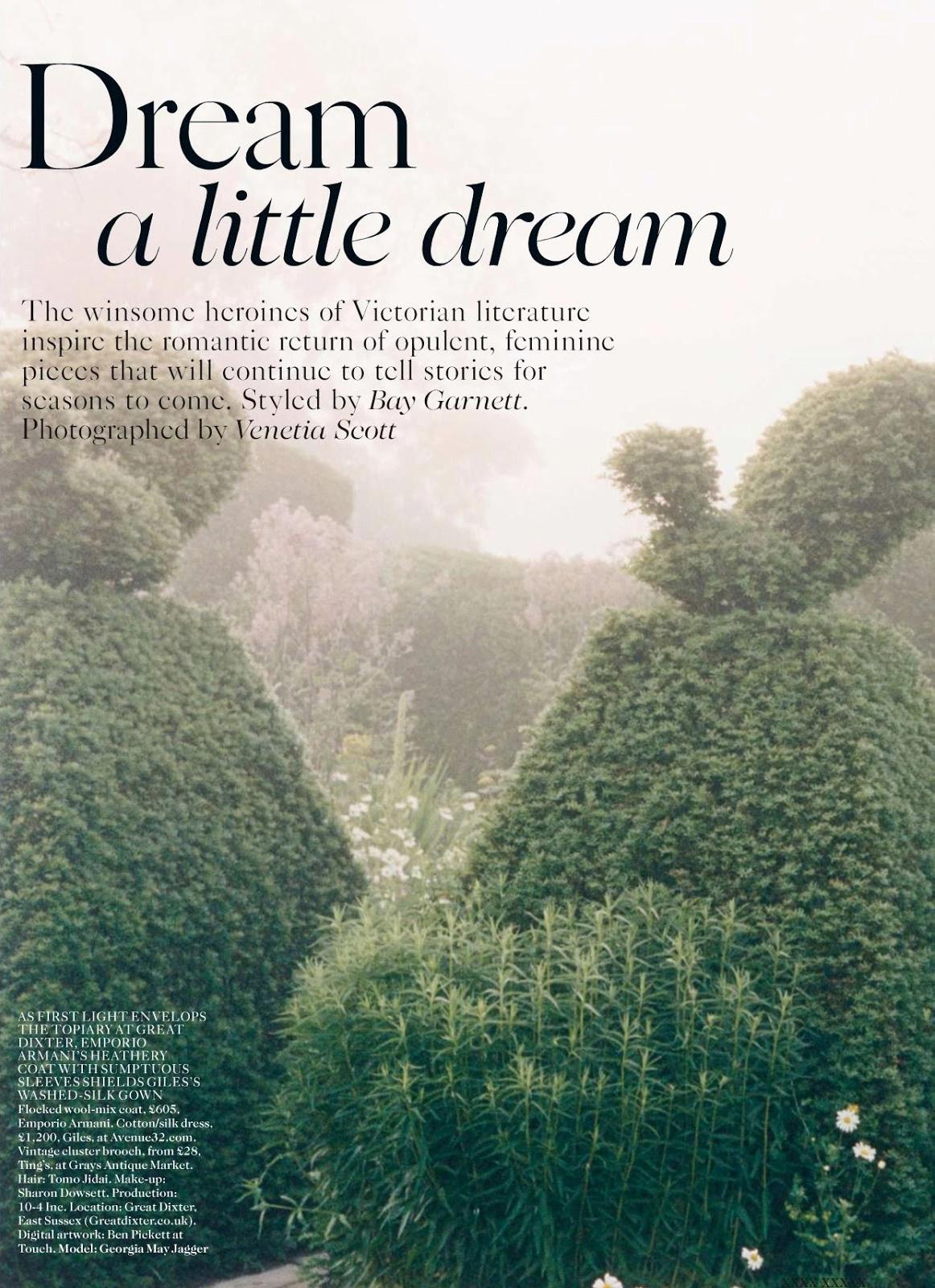 Dream a little dream Georgia May Jagger by Venetia Scott for Vogue UK October 2013 8