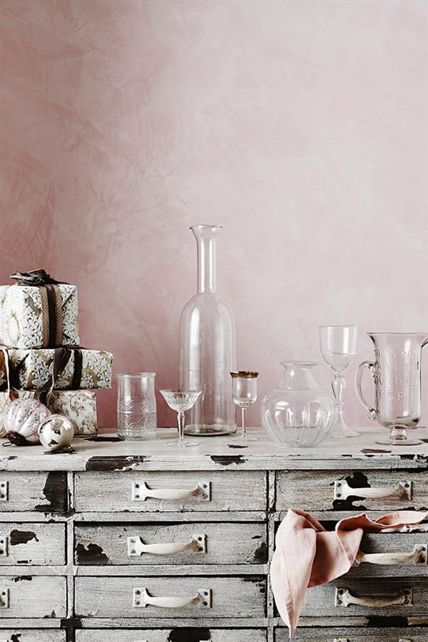 Pink linen Christmas decoration 6