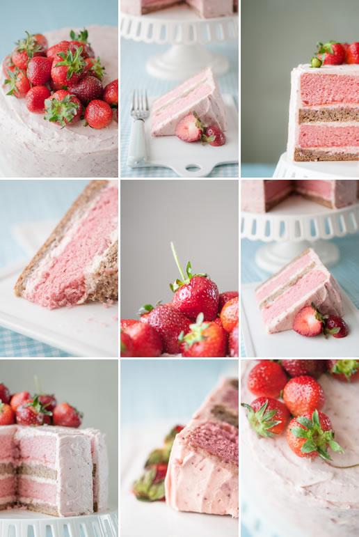 Strawberry banana milkshake cake by Hungry Rabbit 2