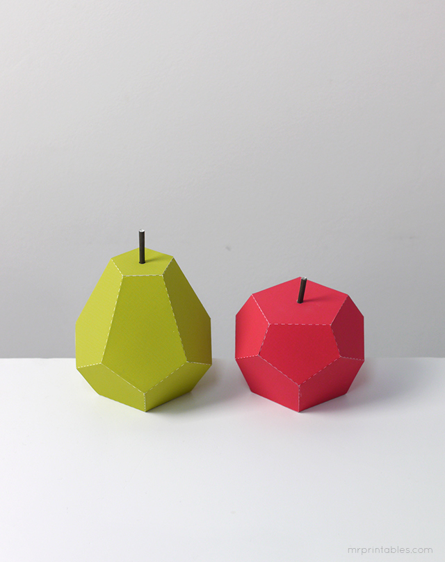 Play fruit paper toys by Mr Printables - templates 4