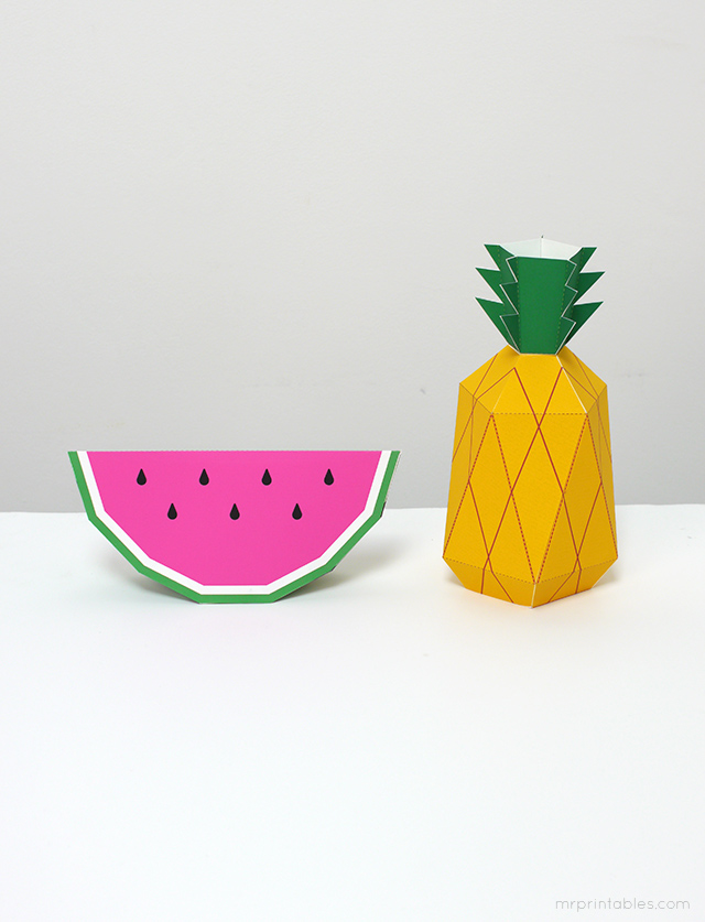 Play fruit paper toys by Mr Printables - templates 8
