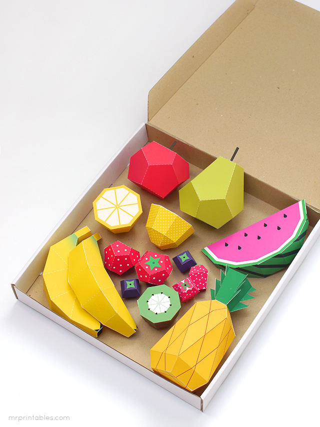 Play fruit paper toys by Mr Printables - templates 9