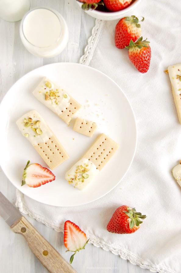 White Chocolate Pistachio Shortbreads by Kitchen McCabe - Jelanie 1