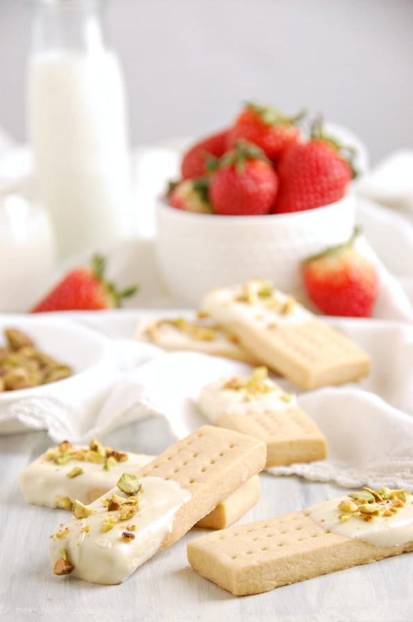 White Chocolate Pistachio Shortbreads by Kitchen McCabe - Jelanie 2